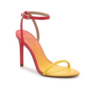 Mix no. 6 keisy ombre red yellow sandals heels